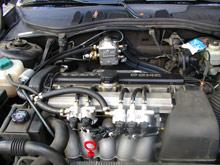 Zuführung des AutoGas im Motorraum